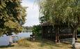Усадьба «Клевое местечко» на берегу Осиповичского водохранилища, Беседка на берегу осиповичского водохранилища