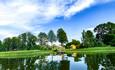 Озеро Черосово, вид на нашу Усадьбу с воды