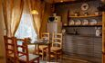 Домики, беседки, баня с бассейном, VIP отдых Усадьба у Антила , Домик на 3 человека стол  КУХНЯ