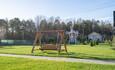 Замечательные качели и двухэтажная мельница для детей