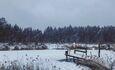 Голубые озера усадьба Трабутишки, После бани в прорубь!