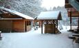 Райский уголок в зимний период