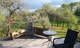 Агроусадьба «Арт-деревня Каптаруны», Дом с китайской беседкой. Верхняя терраса весной