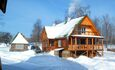"Farmhouse ""Hutorok u ozera"" (""The farm by the lake"") , Как приятно здесь зимой.. треск дров в печи и камине,запах ёлки, а на улице мороз и солнце..."