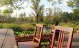 Агроусадьба «Арт-деревня Каптаруны», Корчма с баней. Терраса у пруда