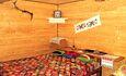 """Усадьба """"Сказка""""  в Беловежской пуще, Большая кровать с артопедическими матрасом в большой спальне."""