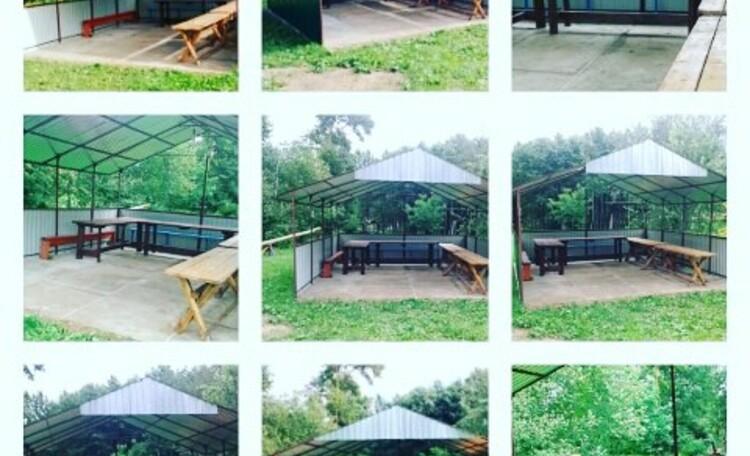Агроусадьба «Ивановщина», беседка вмещает до 35 человек