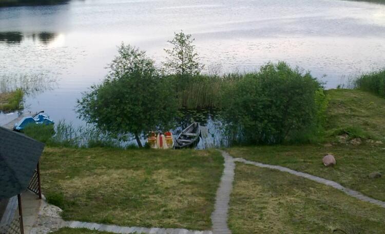 Агроусадьба «У озера» свободна 19-21 июля, Вид с террасы