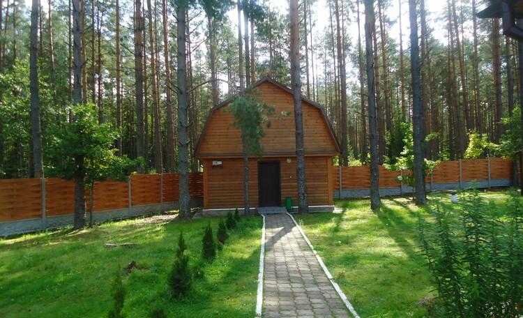 Домик охотника «Борисовский опытный лесхоз», русская баня на дровах