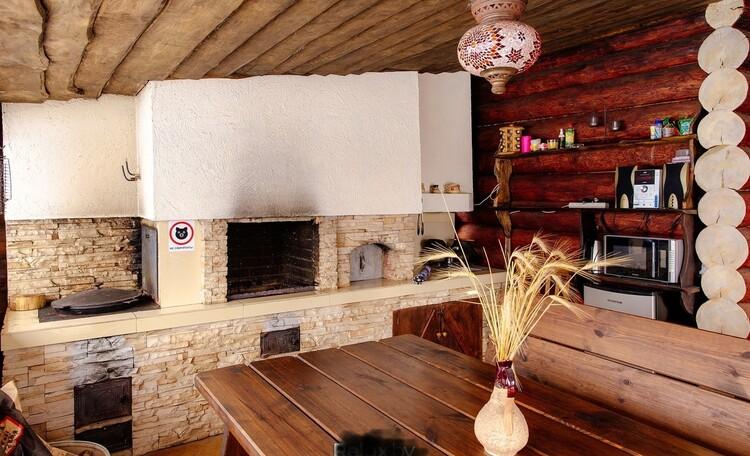 Домик для двоих с камином баней и бассейном, Дом до 10 человек, Семейное бунгало , Беседка в домике для двоих