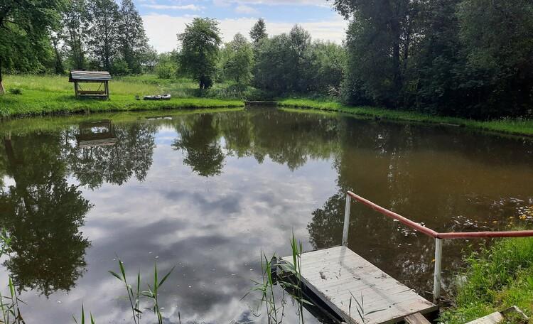 Агроусадьба «Ивановщина», Водоем ,где можно половить карася и карпа