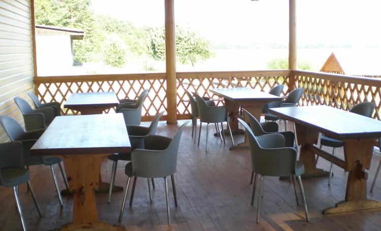 База отдыха «Плещеницы», Кафе - террасса