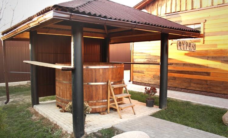 "Farmstead  ""Kupalie"" (""Midsummer""), японская баня Фурако"