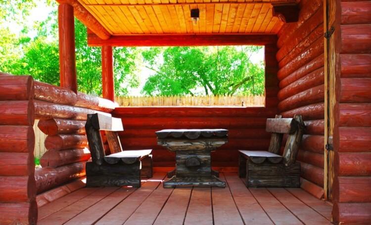 Усадьба «Солнечный угол», Терраса у бани. Усадьба Солнечный угол. Отдых в Беларуси.