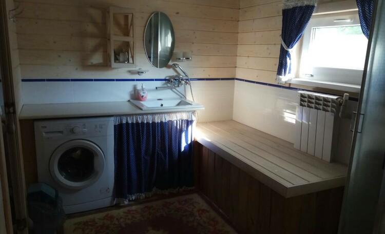 Ванная комната с душем и парной