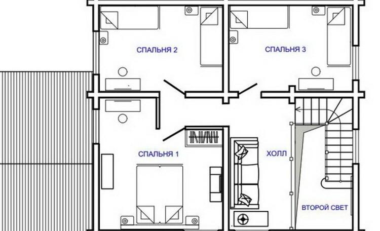 Агроусадьба «Поплавок», План 2-го этажа