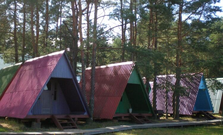 База отдыха «Плещеницы», Летние кемпинговые домики