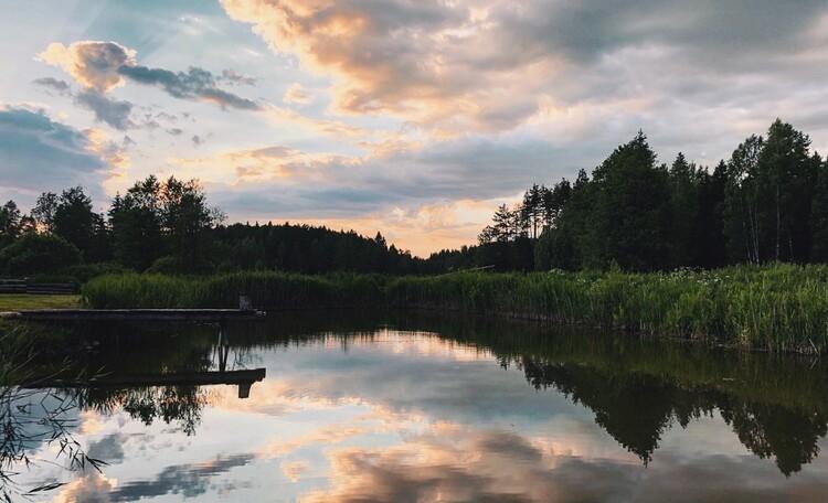Голубые озера усадьба Трабутишки, Наш пруд.