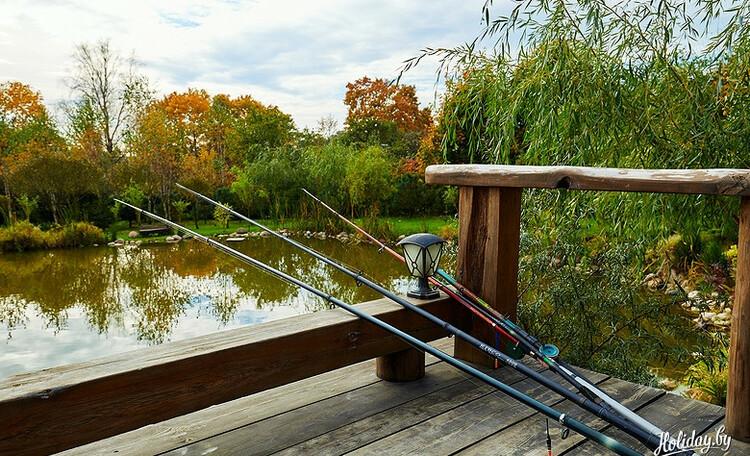 Домик у пруда с баней, рыбалка, квадроциклы, спортивные площадки