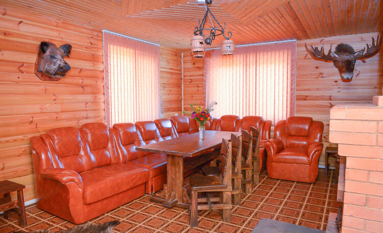 Домик охотника «Борисовский опытный лесхоз», охотничий домик, гостиная