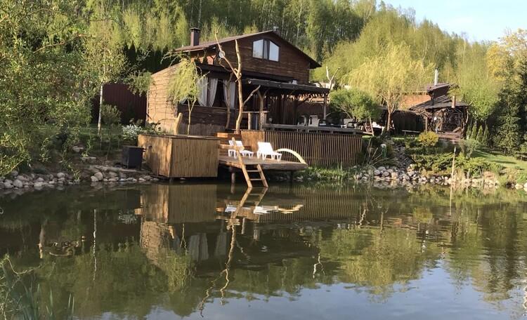 Домик под Минском с камином- бассейном-баней, купель-квадроциклы