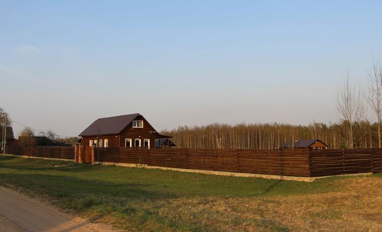 Агроусадьба «Журавинка», Территория усадьбы 1 га. Природный ландшафт начинается прямо на территории.
