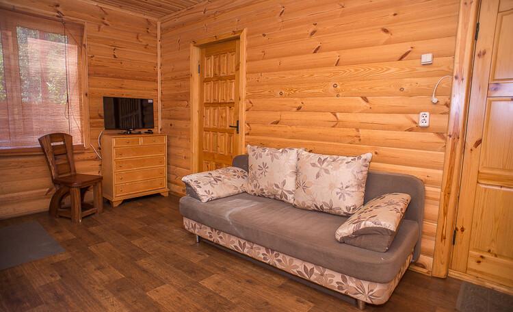 Домик охотника «Борисовский», гостиная гостевого домика