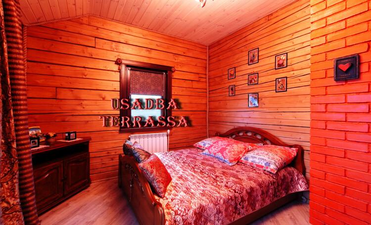 Усадьба «Terrassa», Красная спальня  -  цвет страсти