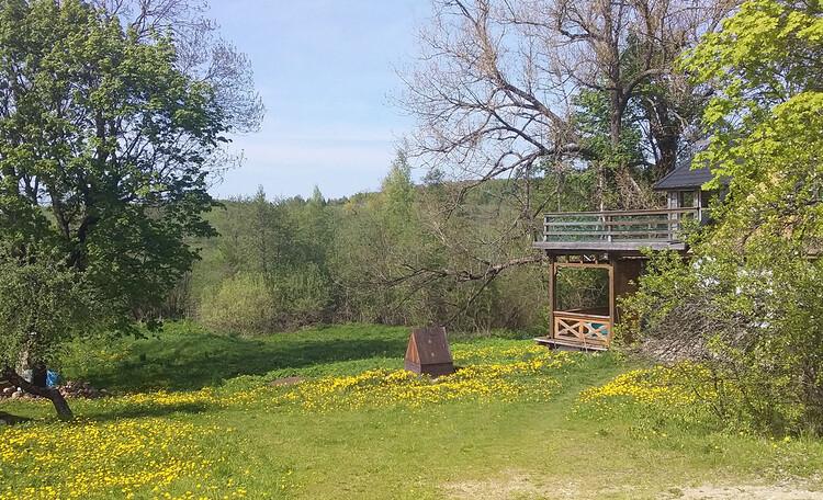 Агроусадьба «Арт-деревня Каптаруны», Дом у пруда