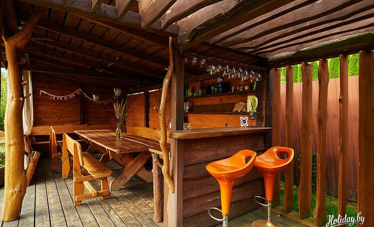 Домики под Минском камин баня бассейн квадроциклы