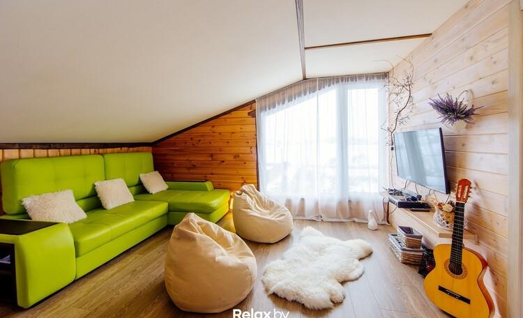 Домики под Минском камин баня бассейн квадроциклы , Дом на 10 человек 2 этаж