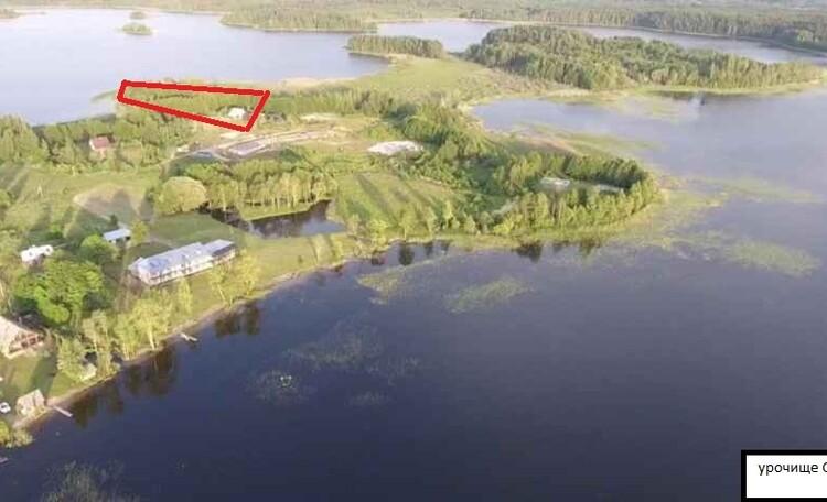 Дом для отдыха «Браславский форт», урочище Остров-Лещ выделено красным это участок и дом