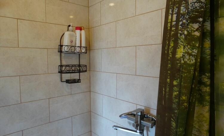 Агроусадьба «Оленья», Вторая ванная: душевая зона, туалет, горячая/холодная вода, фен, полотенца, мыло, шампунь, гель для душа, туалетная бумага