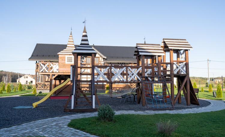 Детская площадка Замок. Два уровня.