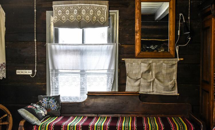 Голубые озера усадьба Трабутишки, Большой дом, гостиная комната, интерьер.