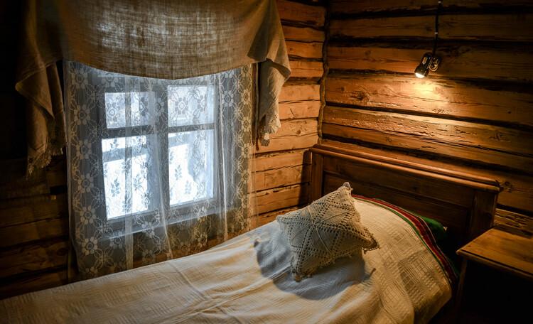 Голубые озера усадьба Трабутишки, Маленький дом, интерьер.