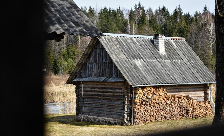 Голубые озера усадьба Трабутишки, Настоящая баня на дровах.