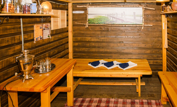 Усадьба «Беловежское поместье», русская баня на дровах