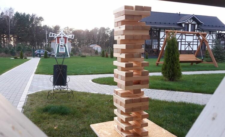 Усадебный комплекс «Бавария», Популярная игра Дженга
