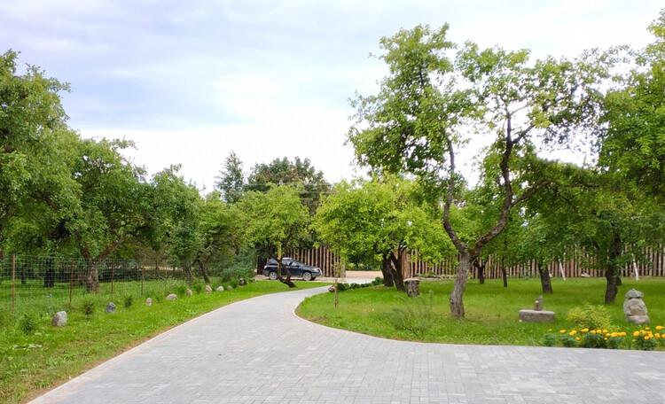 Усадьба «Сосновый дом», Яблоневый сад и дорожка к дому.