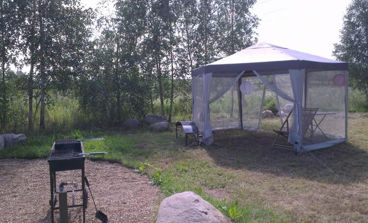 """Eco homestead """"Iznachalnoe"""", Летний шатер с мангалом"""