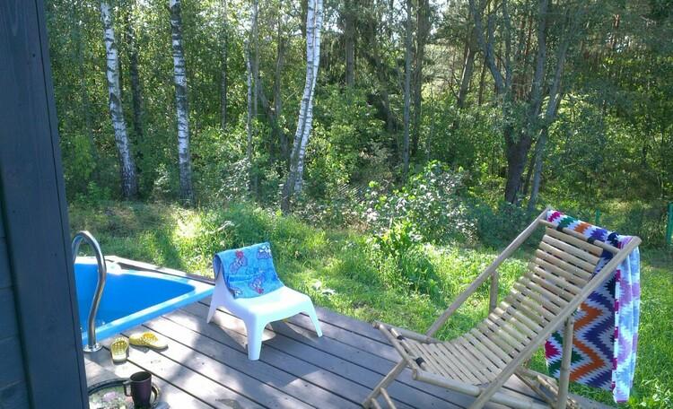 Экоусадьба «Изначальное», Солнечные ванны возле леса