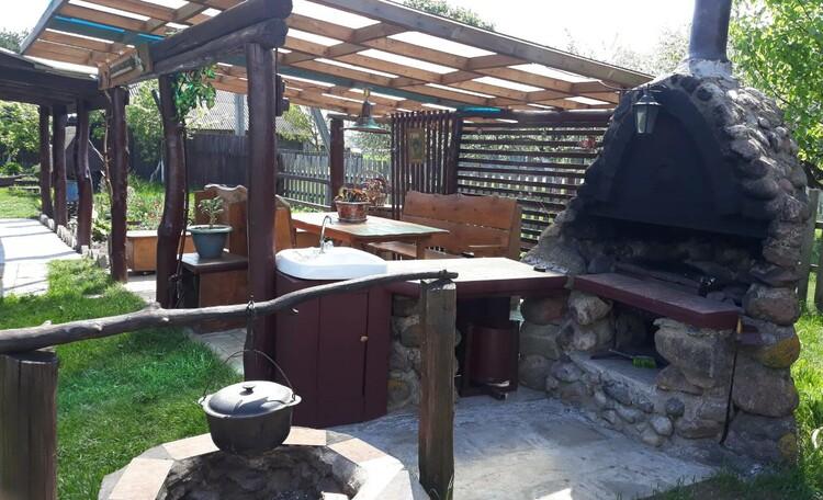 Березовый рай - отличное место для самоизоляции!, Беседка с местом для приготовления барбекю и ухи