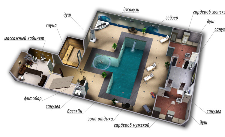 Аппартаменты с сауной