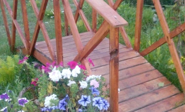 Усадьба «Боровики» (около с. «Радон»), Мост через прудик