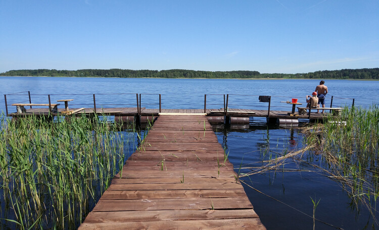 Струсто, наш пирс на озере Струсто