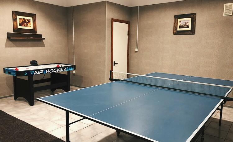 Настольный теннис и аэрохоккей в Большой баньке (на 10-15 человек)