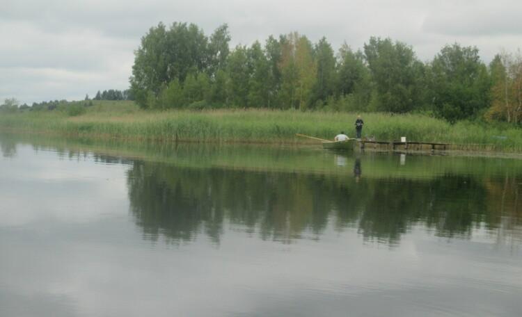 На широких просторах, Рыбалка на мостике.