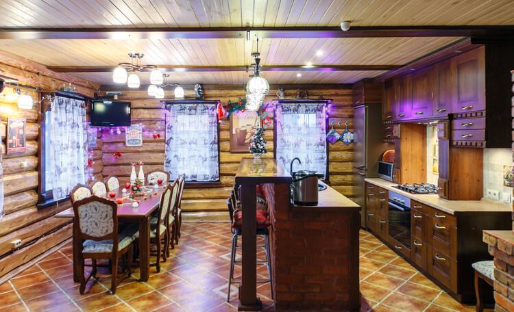 Усадьба «Terrassa», Кухня-столовая из дуба - дизайнерский проект