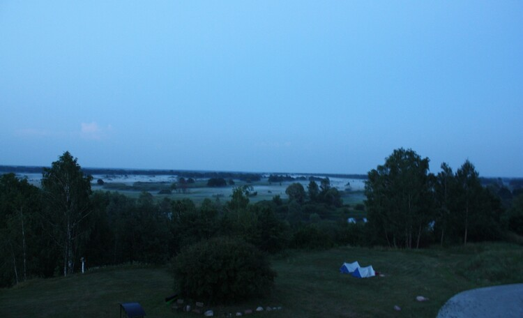 """Агроусадьба """"Поместье Горваль"""", рано утром, вид из окна, август"""